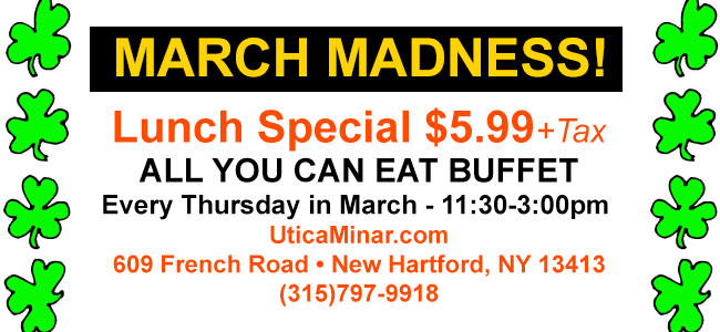 Lunch Buffet Special - $5.99 every Thursday in March
